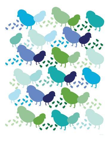 Cool Chick Pattern Art Print