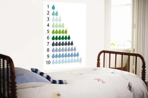 Counting Pears Wall Mural