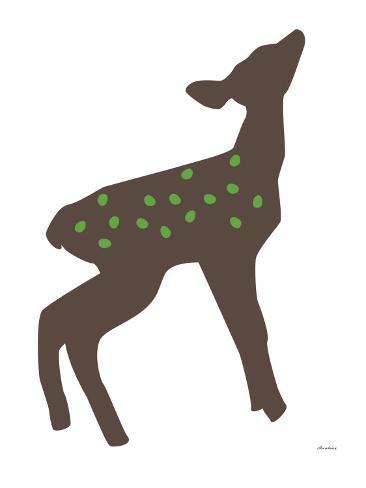 Green Fawn Art Print