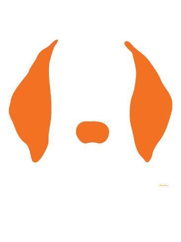 Orange Floppy Ears Art Print