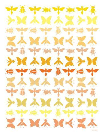 Orange Insects Art Print