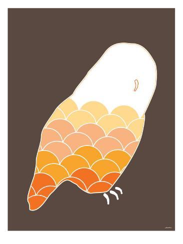 Orange Owl Prints by Avalisa - AllPosters.co.uk