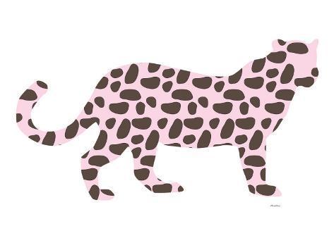 Pink Jaguar Art Print