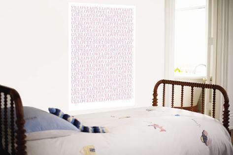 Pink Love Love Love Wall Mural