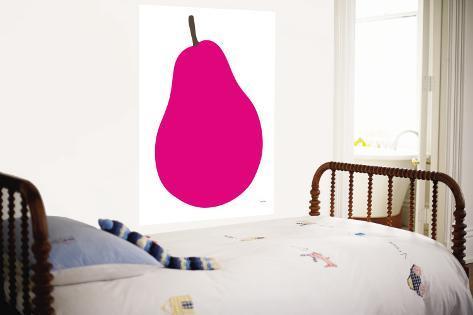 Pink Pear Wall Mural