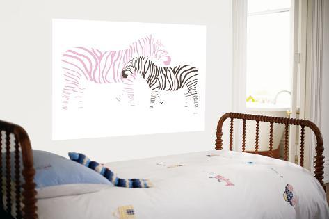 Pink Zebra Giant Art Print