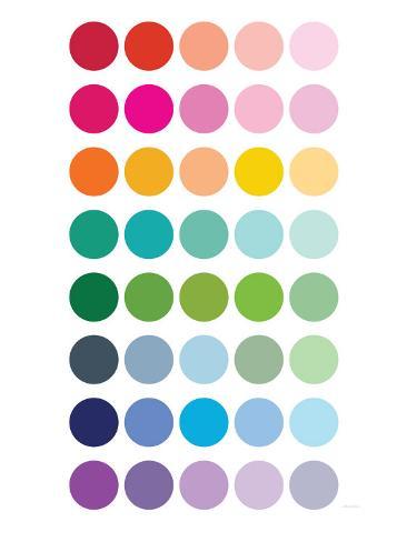 Rainbow Dots Mounted Print