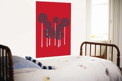 Red Allium Wall Mural