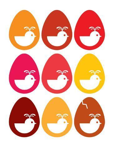 Red Egg Hatching Art Print