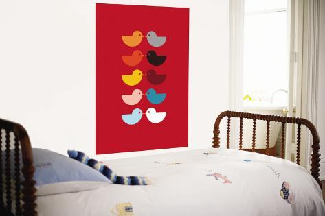 Red Kiss Wall Mural