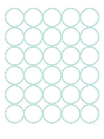 Seagreen Circles Art Print