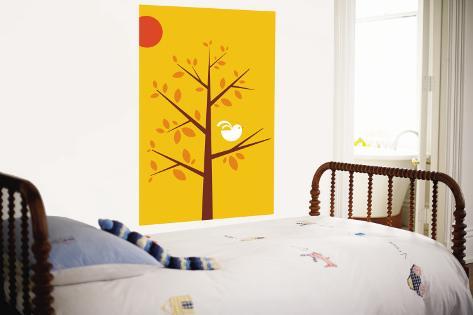 Yellow Songbird Wall Mural