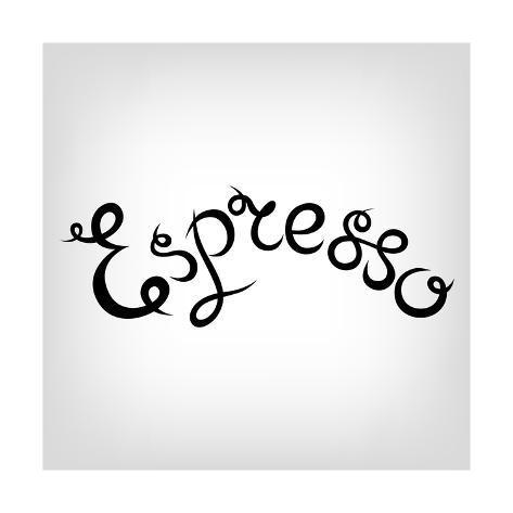 Vector Hand Drawn Cute Lettering Espresso Black Letters Modern Calligraphy Quote Coffee Shop Pr