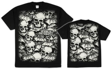 Avenged Sevenfold - Skull Bats T-Shirt