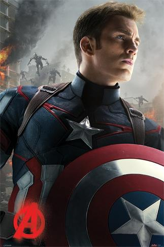Avengers Age Of Ultron (Captain America) Poster