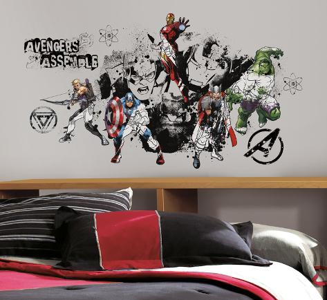 Avengers Assemble in bianco e nero (sticker murale) Decalcomania da muro