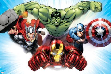 avengers assemble situational art print at allposters com