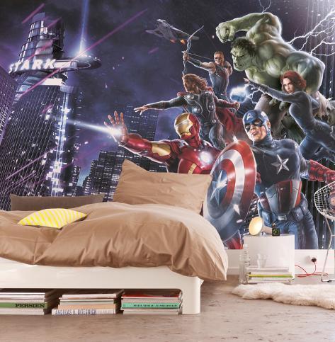 Avengers - City Night Carta da parati decorativa