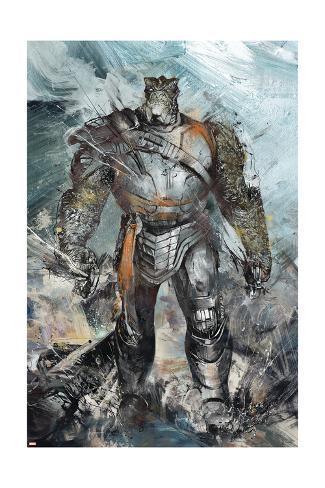 Avengers: Infinity War - Black Dwarf Painted Art Print