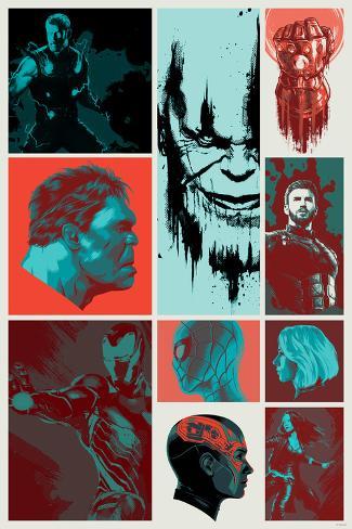 Avengers: Infinity War - Blocks Art Print