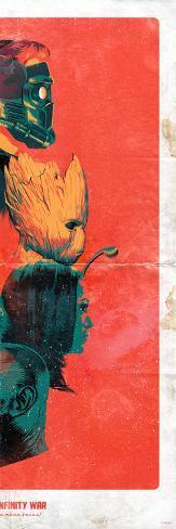 Avengers: Infinity War - Guardians of the Galaxy Profiles Art Print