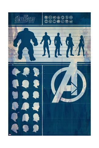 Avengers: Infinity War - Heroes Chart Stampa artistica
