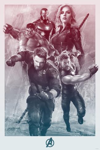 Avengers: Infinity War - Painterly Avengers Stampa artistica