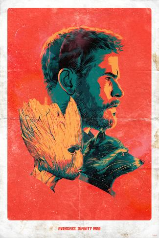 Avengers: Infinity War - Profiles Art Print