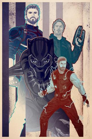 Avengers: Infinity War - Team-Up Collage Art Print