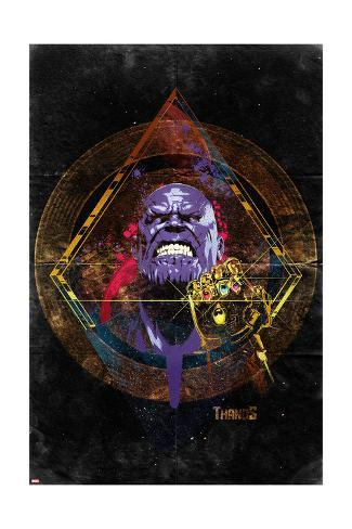 Avengers: Infinity War - Thanos (Nostalgic) Art Print