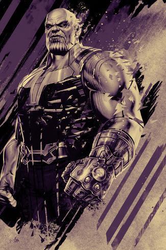 Avengers: Infinity War - Thanos (Purple) Art Print