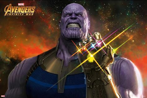 Avengers: Infinity War - Thanos Stones Poster