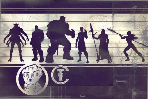 Avengers: Infinity War - Villains Chart Stampa artistica