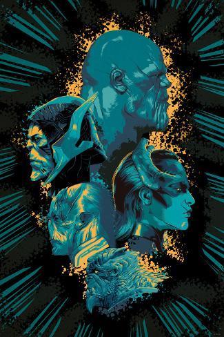 Avengers: Infinity War - Villians Cluster Art Print