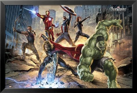 Avengers-Strike Lamina Framed Poster