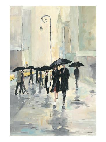 City in the Rain Art Print
