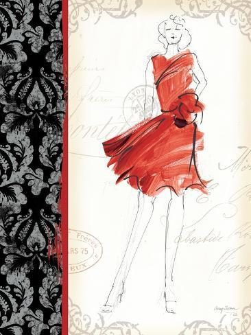 French Couture I Art Print