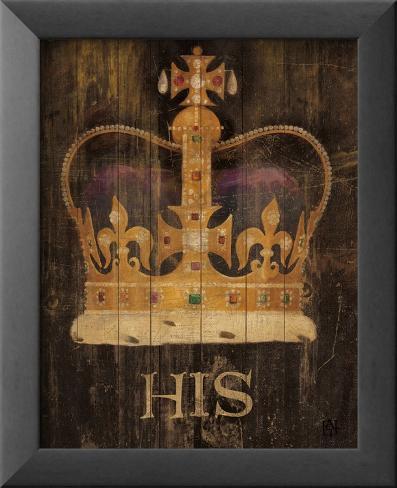 His Majesty's Crown Stampa artistica con cornice e pellicola protettiva