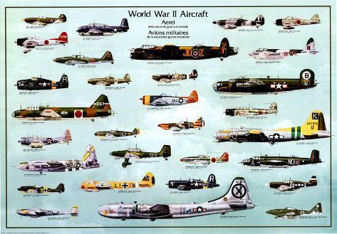 Avión de la segunda guerra mundial Póster