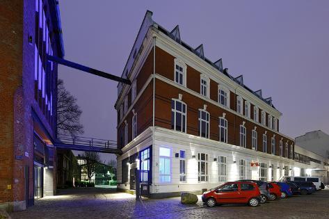 Borselhof at Dusk, Ottensen, Hanseatic City of Hamburg, Germany Photographic Print