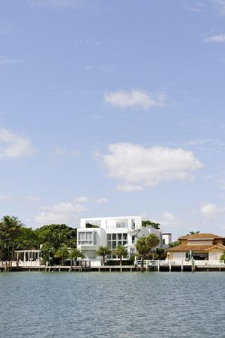 Diamond Marina, Mooring Place for Yachts Directly at the Collins Avenue, Florida Photographic Print
