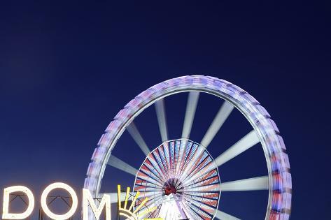 Entrance and Ferris Wheel, Dom, Sankt Pauli, Heiliggeistfeld, Hanseatic City Hamburg, Germany Photographic Print