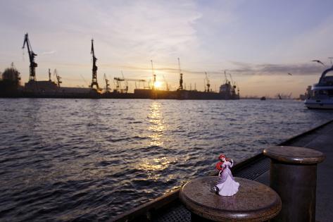 Evening Mood, St Pauli Landing Stages, Hanseatic City of Hamburg, Germany Photographic Print