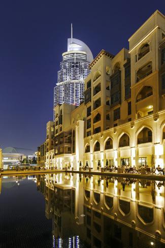 Five-Star Hotel the Address, Souk Al Bahar, Downtown Dubai, Dubai, United Arab Emirates Photographic Print