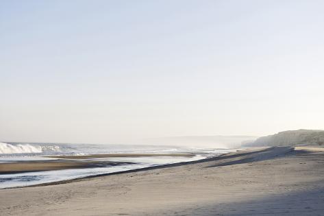 Gentle Light at Sunrise, Surf, Portuguese Atlantic Coast, Praia D'El Rey, Province Obidos, Portugal Photographic Print