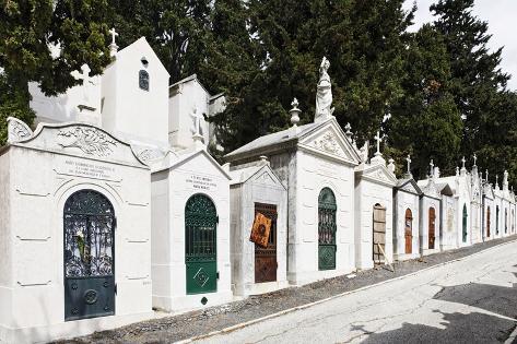 Historical Cemetery, Tombs, Funerary Chambers, Cemiterio Dos Prazeres, Prazeres, Lisbon, Portugal Photographic Print