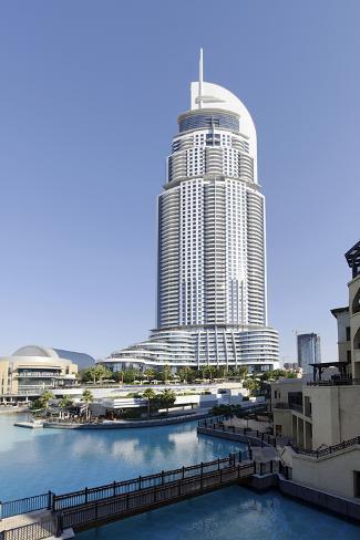 Luxury Hotel the Address, 63 Floors, Metropolis, Downtown Dubai, Dubai, United Arab Emirates Photographic Print