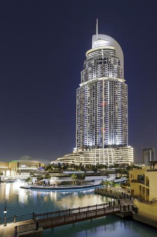 Luxury Hotel the Address, Souk Al Bahar, Downtown Dubai, Dubai, United Arab Emirates Photographic Print