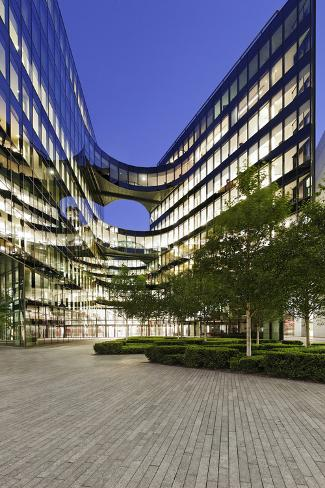Modern Architecture, Office Buildings on the South Shore of the Thames, Bermondsey, London, England Photographic Print