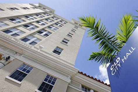 Old City Hall of Miami Beach, Washington Avenue, Miami South Beach, Art Deco District, Florida, Usa Photographic Print